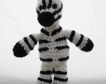 Crochet Zebra Doll
