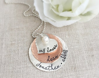 Mothers Day Gift . Family Necklace . Personalized Mother Necklace . Mother Jewelry . Mom Gift . Personalized Jewelry . Mother Necklace