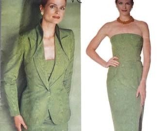 1990s GIVENCHY Vogue Paris Original 2086 Dress and  Vintage Paper Pattern Size 14 Bust 36 38 40  ALexander McQueen