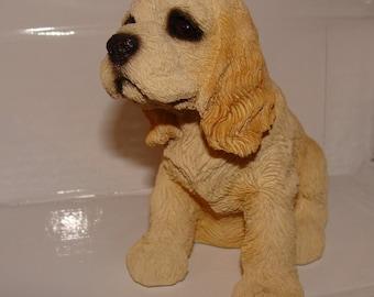 Blonde Spainiel Dog Figure by LivingStone, 1991