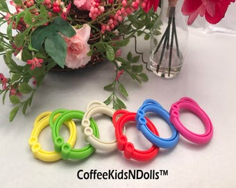 Silicone Stroller Clip // Toy Clip // 2 inch // Hanging Toy Clip // Baby Toy Link // Stroller // Toy Making // DIY // Baby Chew // Sewing