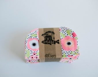 Baby Wipes - Set of 20 -  Double Layer  (Pretty Poppies )