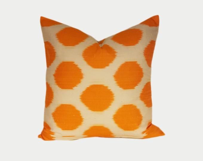 Ikat Pillow, Ikat Pillow Cover NPI118, Ikat throw pillows, Designer pillows, Decorative pillows, Accent pillows