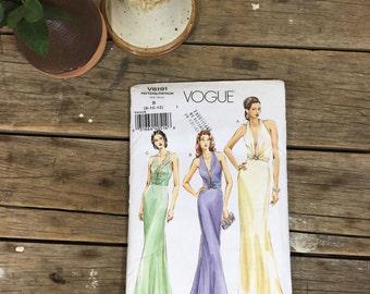 Dress Pattern, Vogue V8191, formal dress, gala, red carpet, sewing, crafting,  CUT pattern, women, ladies