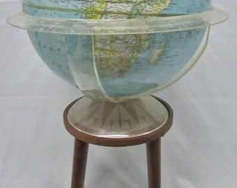 Mid Century Floor Globe