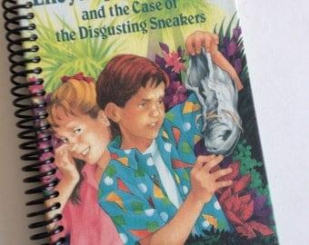 ENCYCLOPEDIA BROWN & Disgusting Sneakers Journal Book  Notebook Recycled Spiral Bound Storybook Weekly Reader