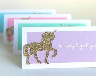 Pastel Unicorn Place Cards Unicorn birthday, unicorn party, unicorn food labels, unicorn tent cards pastel unicorn party