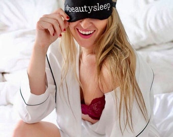 Beauty Sleep Hashtag sleep eye mask