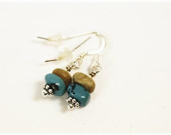 Petoskey Stone Earrings / Leland Bluestone Earrings / Leland Bluestone Jewelry