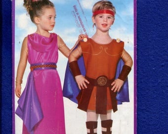 Butterick 5109 Ancient Rome Costumes for Kids Sizes XS to L UNCUT