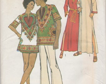 Mens 1970s Caftan or Tunic Pattern Simplicity 5043 Size 38-40 Uncut