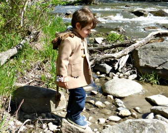 Wild & Woolly Lion Coat, Childrens Coat in Wool or Fleece, Boys Jacket, Girls Jacket, Warm Winter Coat for Kids