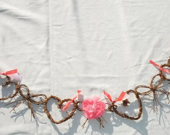 Grapevine Heart and Bow Garland