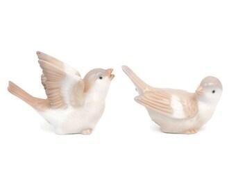 Vintage Otagiri Japan Birds Figurine Porcelain Sparrows Set of 2 Home Decor