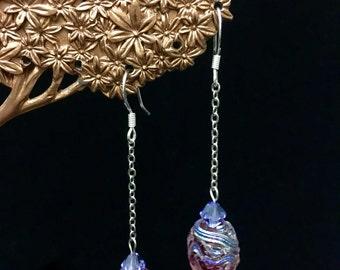 Iridescent Lampwork Earrings