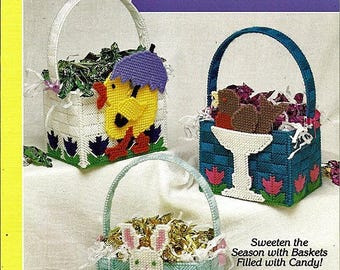 Candy Baskets for Easter Plastic Canvas Patterns Book The Needlecraft Shop 913919