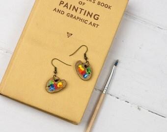 Paint Palette Drop Earrings