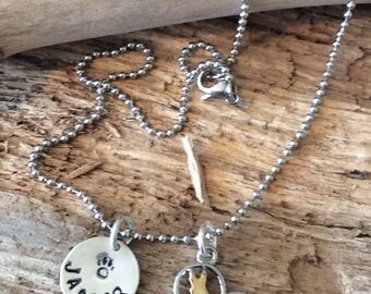 German Shepard  heart charm Personalized Necklace,  Dog Lover Gift, In Memory Dog Memorial Jewelry