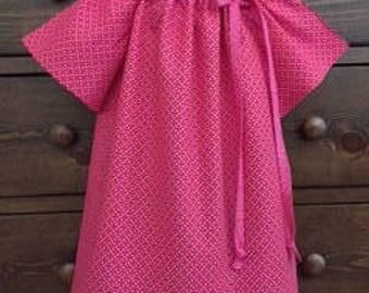 Peasant Dress - Pink Birthday Dress - Girls Summer Dress -  Holiday Dress  -  Girls  Size 4T   -  Ready to ship  By Emma Jane Company