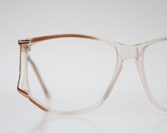 Vintage 70's Oversized Butterscotch Eyeglasses Frames