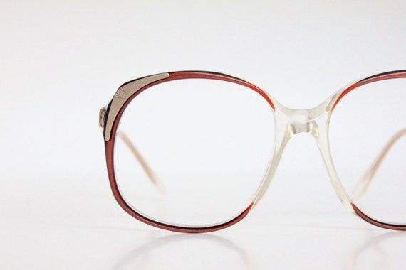 Eyeglass Frames German : Vintage 80s Oversized Paprika German Eyeglass Sunglasses