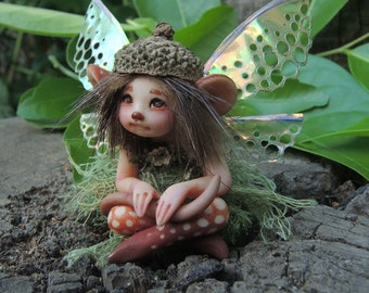 Tiny Mouse Woodland Fairy || Celia Anne Harris || Made to Order