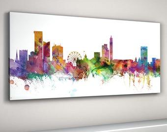 Birmingham Skyline Canvas, Birmingham Cityscape Box Canvas Art Print (7)
