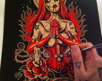 Gothic, repent, nun,gothic art, dark Art by Marcus Jones