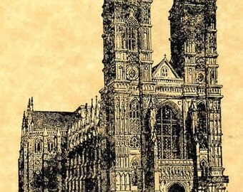 Westminster Abbey Rubber Stamp