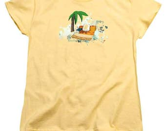 Toasted Marshmallow at the Beach Women's TShirt - soft tee - 100% cotton - FREE US shipping