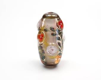 Lampwork Glass Floral Bead