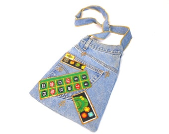 90s Purse/ Denim Purse/ Jean Purse/ Denim Tote Bag/ 90s Club Kid/ Jeans Bag/ Patchwork Bag/ Gambling Gift/ Poker Gifts/ Atlantic City