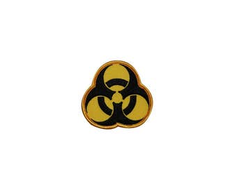 Biohazard Symbol Logo Embroidered Iron On Badge Applique Patch FD
