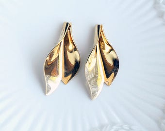 Vintage Shiny Golden Brass Leaves Cala Lily Caps or Charms, Open Flower Charm Finding(6)