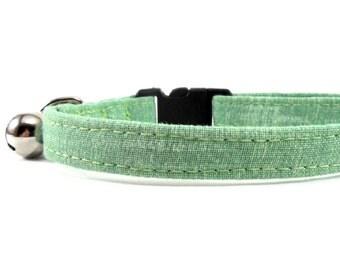 Cat Collar, Small Dog Collar, Sage