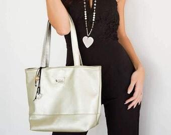 Silver Cord Handbag- Eco Friendly and Vegan