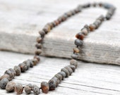 Unpolished Baltic amber necklace. Maximum effective pain relief
