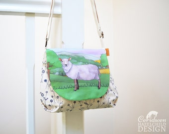 Sheep Handbag, Cross Body Bag, Small Messenger Bag, Shoulder Bag