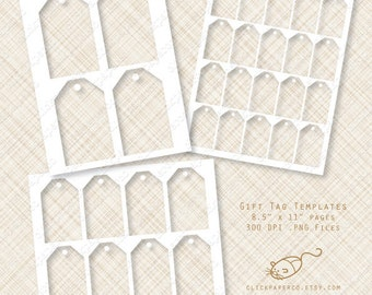 Handmade gift tag etsy gift tag template hang tags multi size value pack for collage sheets printable kits small business negle Gallery