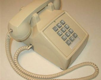 CORTELCO Beige Touch Tone Desktop Telephone Vintage 1990's