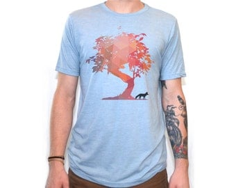 Fox Shirt | Men's T Shirts | Fox t shirt | graphic tees | Tshirts | Gifts for him | Tree | Tree shirt | Animal Shirt | Geometric |