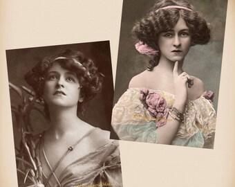 Actress Gabrielle Ray - 2 New 4x6 Vintage Postcard Image Photo Prints GR06 GR04