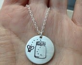 mason jar bumble bee pendant necklace