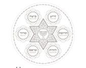 Menorah Star Seder Plate-...