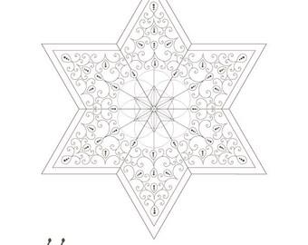 Seed Of Life Golden Spiral Star David Sacred Geometry Art Energy