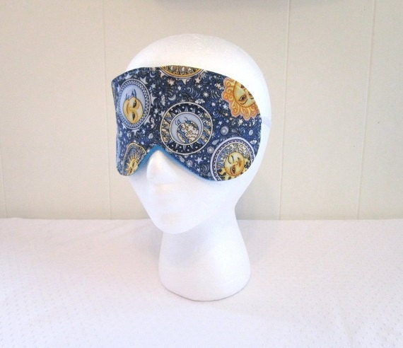 Sleeping mask celestial fabric with soft blue fleece and for Celestial fleece fabric