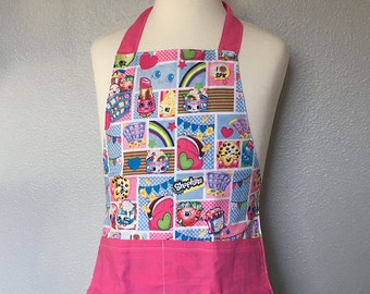 Childrens Apron -- Shopkins -- Ready to Ship