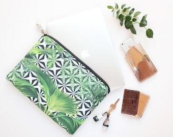 Tropic laptop case. Macbook case 13''. Laptop sleeve. Computer bag 16,5''. Macbook cover. Protective tablet sleeve. Tropical print. /CASE 2