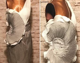 Vintage 1980s Asymmetrical Cocktail Dress // 80s Avant-garde Mini Dress // size small S