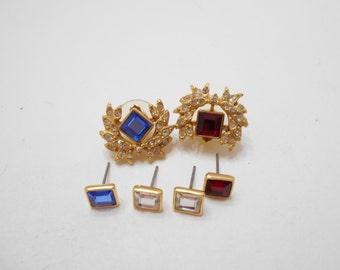 Vintage Joan Rivers Interchangeable Pierced Earrings (8335)